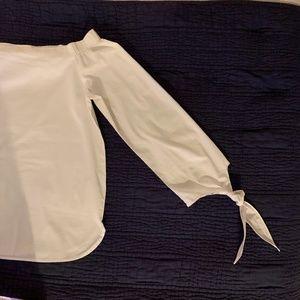 JOA Off shoulder Shirt Tie Sleeve Top Blouse